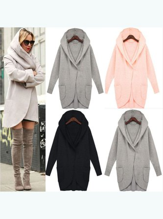 Long Sleeve Loose Hoodie Pocket Outwear