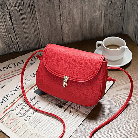 Women PU Solid Small Crossbody Bags Solid Leisure Phone Purse