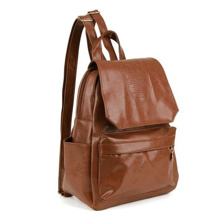 Casual Crown Embossed Women PU Leather Backpack