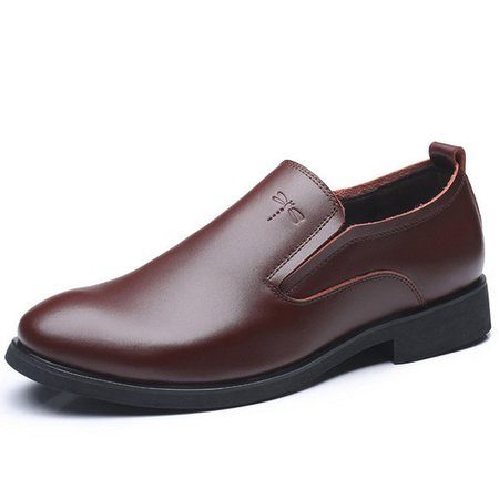 Men  Large Size Pointed Toe Slip-Ons Formal Shoes