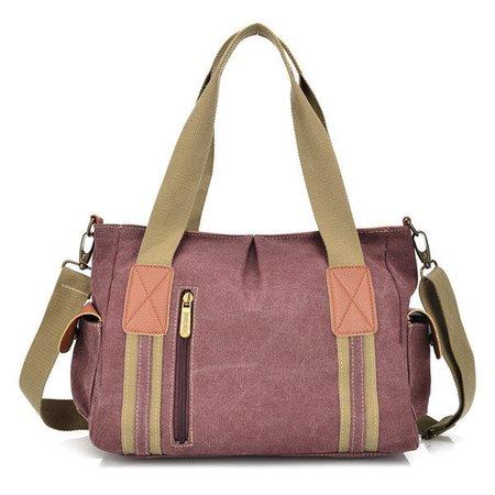 Women Durable Canvas Joint Casual Handbag Crossbody Bags