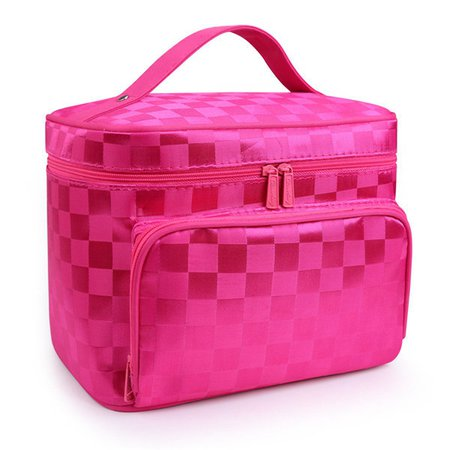 Women Waterproof Dacron Cosmetic Bag Lightweight Storage Bag Travel Wash Bag