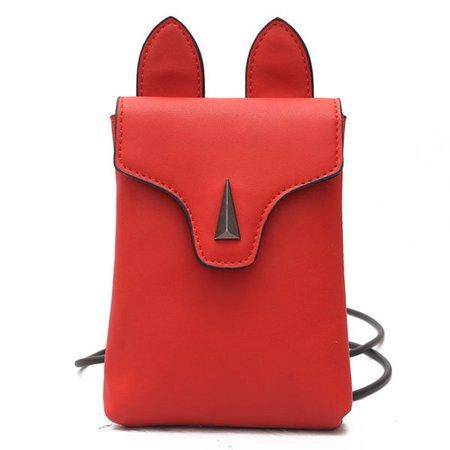 Women Cute Animal Shape Phone Purse PU Leather Mini Crossbody Bags