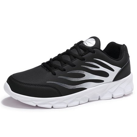 Men Large Size Leather Trainers Sport Casual Sneakers