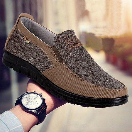 Men Large Size Slip On Old Peking Casual Cloth Shoes