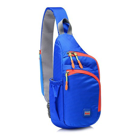 Outdoor Sport Lightweight Waterproof Nylon Chest Bag Casual Crossbody Bag