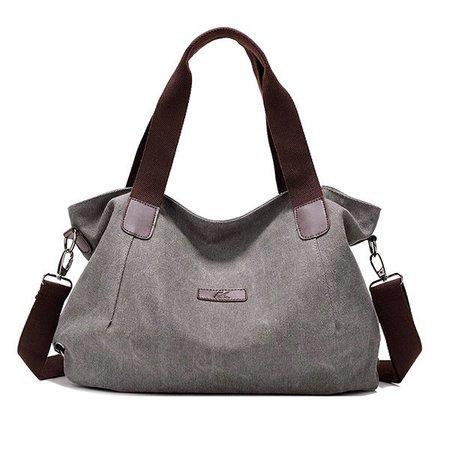 Large Capacity Women Durable Canvas Handbags Casual Crossbody Shoulder Bags