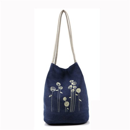 Women Canvas Printed Casual Large Capacity Handbag Shoulder Bags