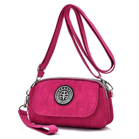 Women Waterproof Nylon Clutches Bags Mini Front Pocket Crossbody Bags
