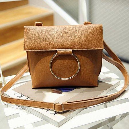 Women Vintage PU Leather Phone Purse Casual Mini Crossbody Bag