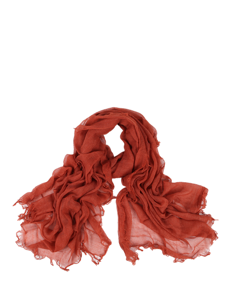 Orange Casual Solid Scarf