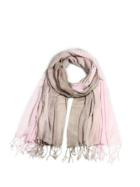 Color-block Casual Dyed Bamboo Fiber Scarf
