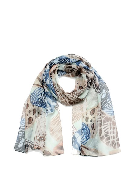 Butterfly Print Casual Scarf