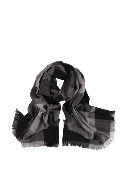 Black Checkered/Plaid Casual Acrylic Scarf