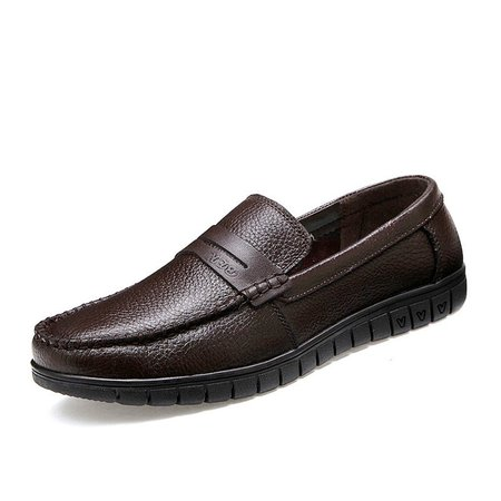 Men Soft Slip On Business Casual Leather Loafers