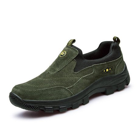 Faux Leather Sport Running Outdoor Slip On Casual Athletic Hiking Sneakers