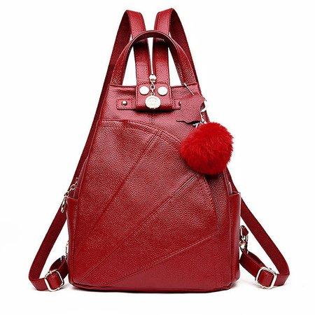 Vintage Genuine Leather Stylish Shell Backpack Shoulder Chest Bag