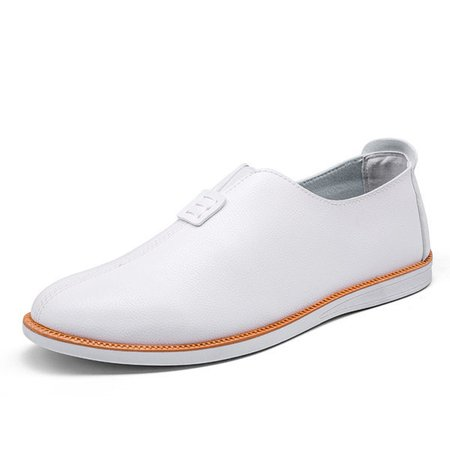 Men's Faux Leather Light Portable Slip On Casual Loafers