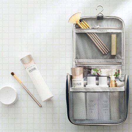 Women Waterproof Hitcolor Printed Luggage Bag Travel Cosmetic Bag