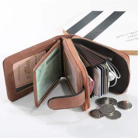 Ladies Trifold Short Wallet Multi-Slots Card Holder 8 Card Slots Purse