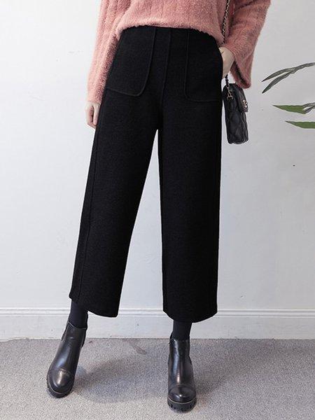 Black Shift Pockets Pants
