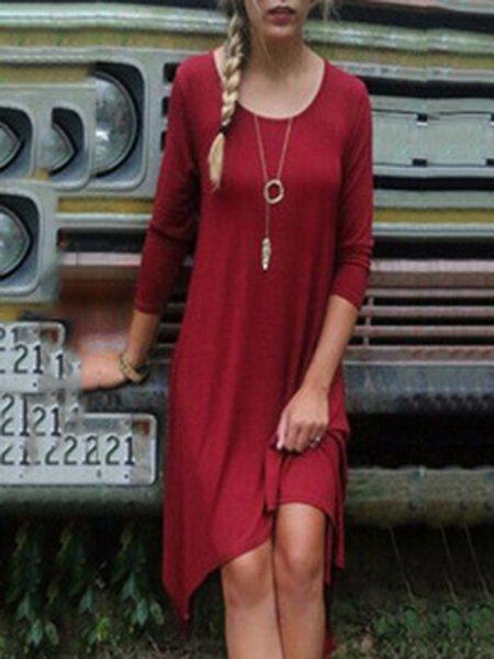 Women Asymmetric Casual Maternity Dress