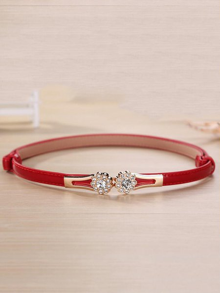 Chic Women Elegant Crystal Decoration Belt Adjustable Waistband Strap