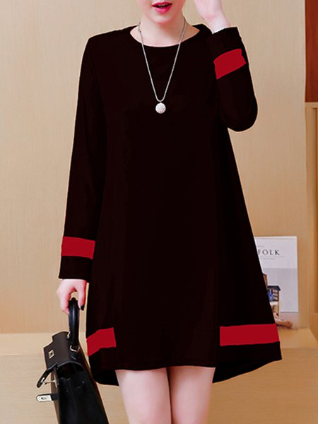 Elegant Sweet Binding A-line Long Sleeve Dress