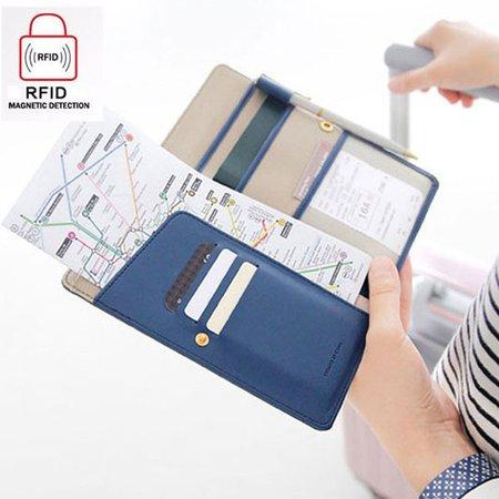 Women Men Outdoor Travel Boarding Multifunctional Must-have Passport Bag Wallet