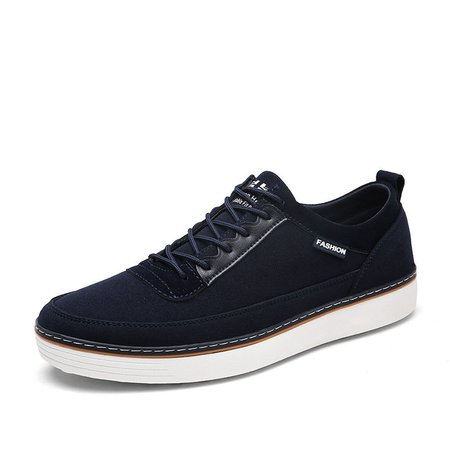 Men Low Top Lace Up Trainers Flat Casual Sneakers