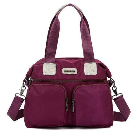 Waterproof Nylon Handbag Multi Pockets Handag Crossbody Bag For Women