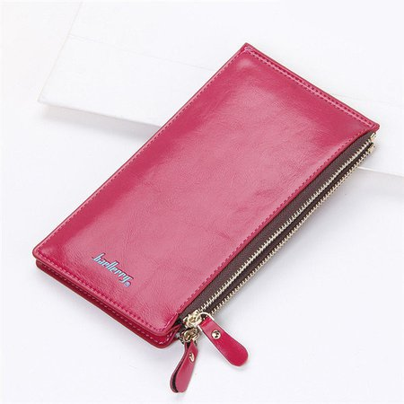 PU Leather Universal Long Wallet Purse Multi-Card Slots Phone Bags