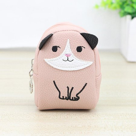 Women Lovely Cute Animal Pattern PU Leather Card Holder Coin Purse