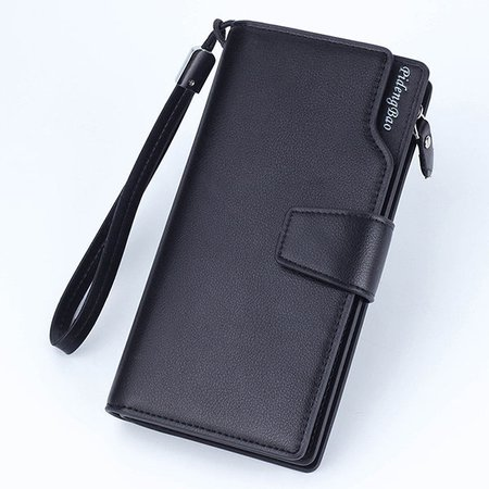 Casual PU Leather Clutch Bag Business 11 Card Slots Wallet Phone Bag For Men