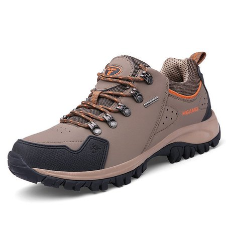 Men Breathable Slip Resistant Lace Up Hiking Outdoor Sneakers