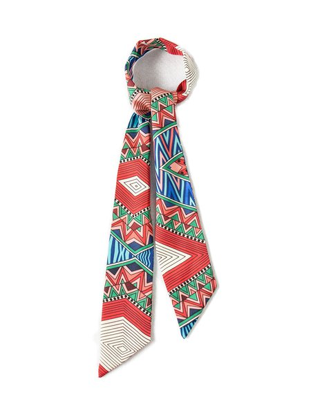 Multicolor Geometric Casual Scarf