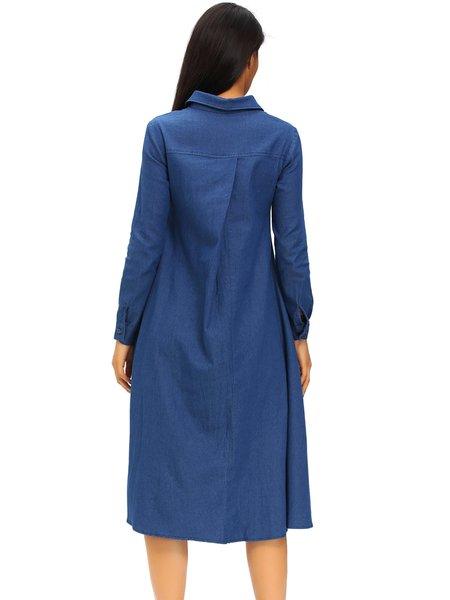 Long sleeve denim dress