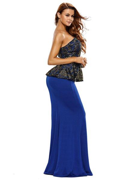 Long one sleeve dress