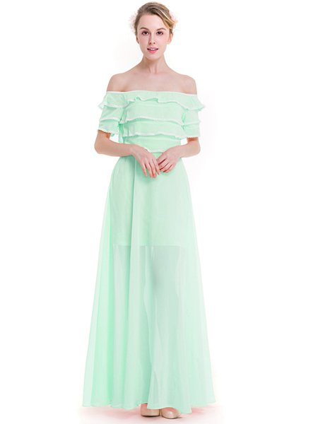 Maxi dress light green