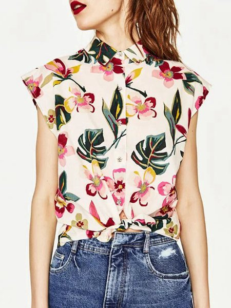 In Blossom Multicolor Girly Floral-print Shirt