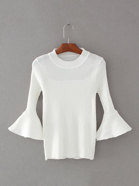 My Confidante White Flared Sleeve Sweater
