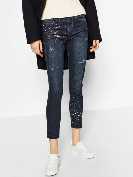 Better With You Dark Blue Pockets Skinny Jeans