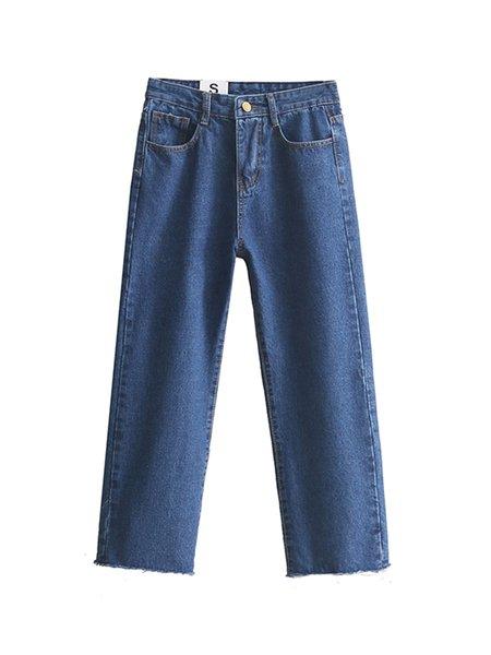 Ever Amazed Blue Pockets Wide Leg Jeans
