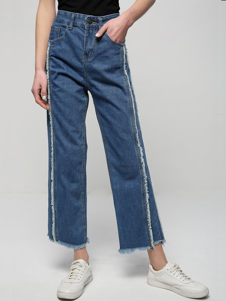 In the Raw Distressed Pockets Denim Pants