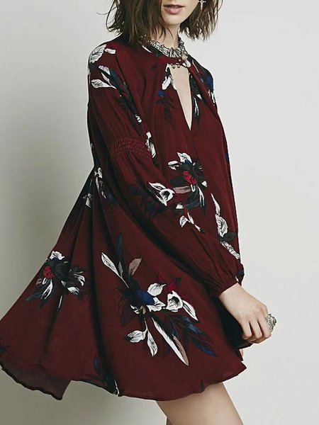 Full Of Grace Burgundy Asymmetrical Tunic Top