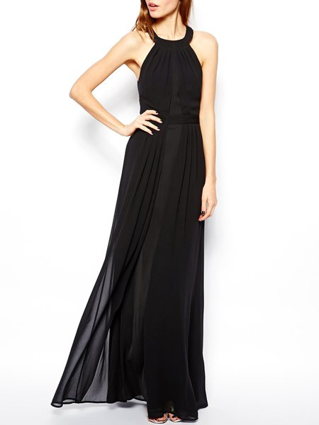 Future Day Black Criss Cross Back Maxi Dress