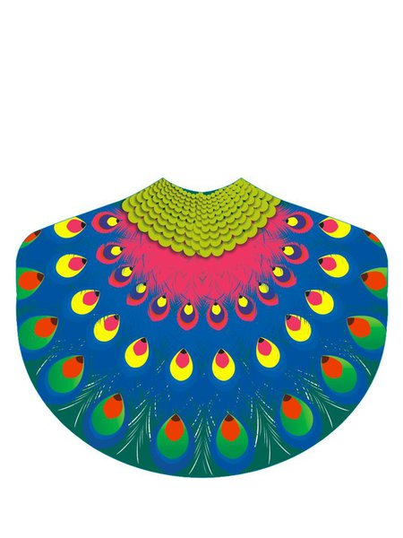 Sun-sational Peacock Shaped Chiffon Blanket