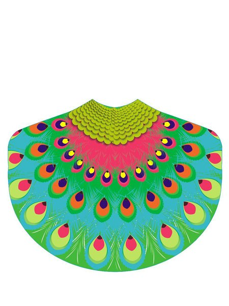 Sun-Sational Peacock Shaped Statement Blanket