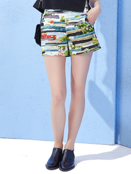 Rolling Stone Zipper Printed Cute Graphic Shorts