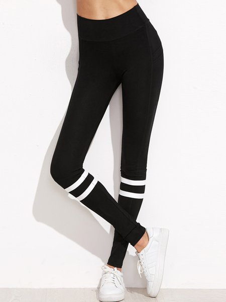 Sports Life Black Solid Leggings
